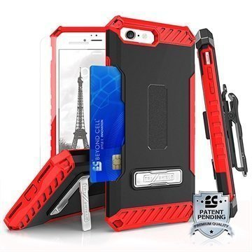 iPhone 7 Beyond Cell Tri Shield Kombo Case Black / Red