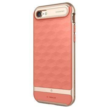 iPhone 7 Caseology Parallax Hybrid Suojakuori Korallinpunainen / Kulta