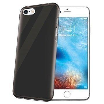 iPhone 7 Celly Gelskin TPU Suojakuori Läpinäkyvä / Musta