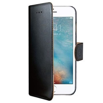 iPhone 7 Celly Wally Lompakkokotelo Musta