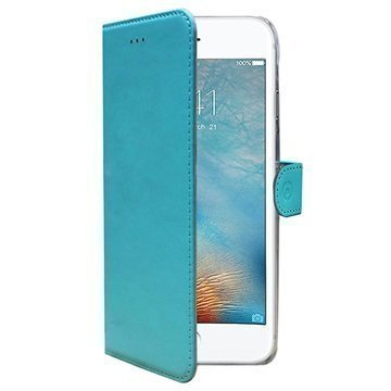 iPhone 7 Celly Wally Lompakkokotelo Turkoosi