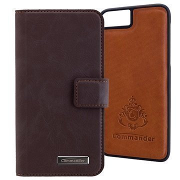 iPhone 7 Commander Book & Cover Kotelo Ruskea Vintage