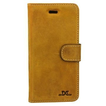 iPhone 7 DC Luka Wallet Leather Case Tobacco