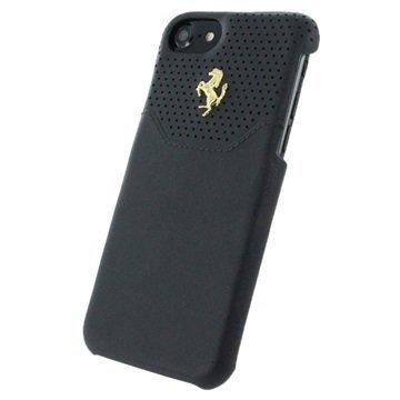 iPhone 7 Ferrari Lusso Nahkakuori Musta