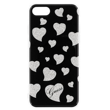 iPhone 7 Guess Hearts Case Black