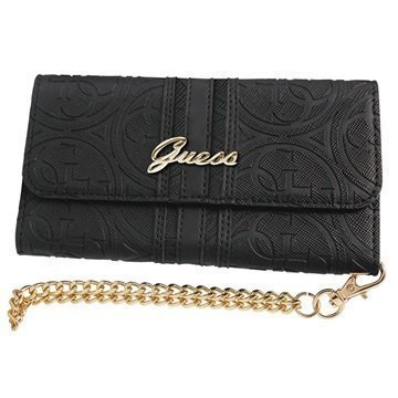 iPhone 7 Guess Heritage Clutch Kotelo Musta