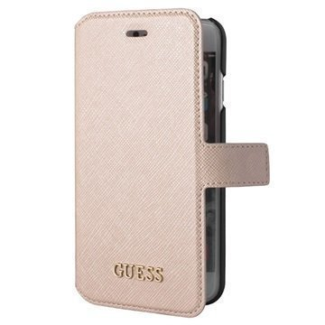 iPhone 7 Guess Saffiano Look Lompakkokotelo Beige