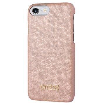 iPhone 7 Guess Saffiano Look Suojakuori Pinkki
