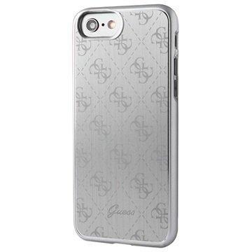 iPhone 7 Guess Signature 4G Suojakuori Hopea