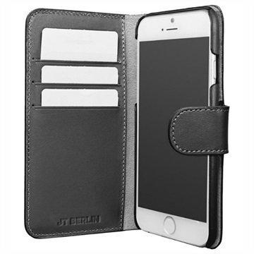 "iPhone 7 JT Berlin 3-in-1 nahkainen lompakkokotelo â"" Musta"