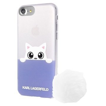 iPhone 7 Karl Lagerfeld Choupette Peek A Boo Cover Clear / Violet