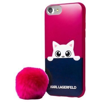 iPhone 7 Karl Lagerfeld Choupette Peek A Boo Cover Pink / Blue