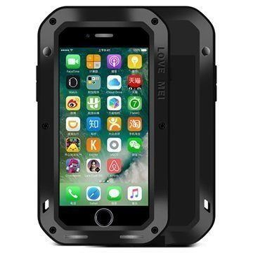 iPhone 7 Love Mei Powerful Suojakuori Musta