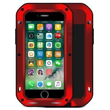 iPhone 7 Love Mei Powerful Suojakuori Punainen