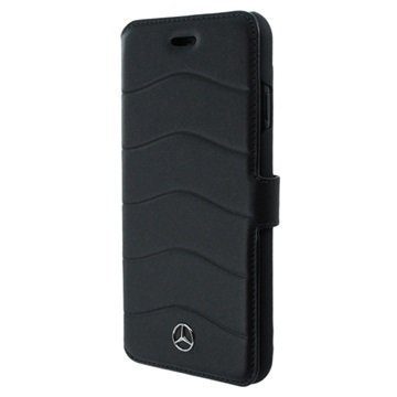 iPhone 7 Mercedes Benz Wave III Lompakkokotelo Musta