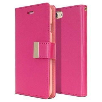 "iPhone 7 Mercury Goospery Rich Diary lompakkokotelo â"" Kuuma Pinkki"