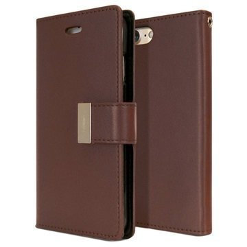 "iPhone 7 Mercury Goospery Rich Diary lompakkokotelo â"" Ruskea"