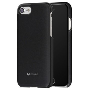 iPhone 7 Mozo Nahkainen Suojakuori Musta