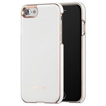 iPhone 7 Mozo Nahkainen Suojakuori Valkoinen