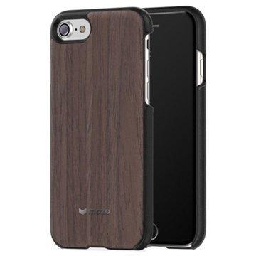 iPhone 7 Mozo Puinen Suojakuori Musta Pähkinäpuu