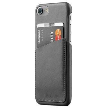 iPhone 7 Mujjo Nahkainen Lompakkokuori Harmaa