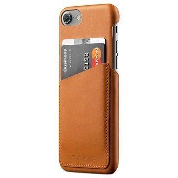 iPhone 7 Mujjo Nahkainen Lompakkokuori Keltaruskea