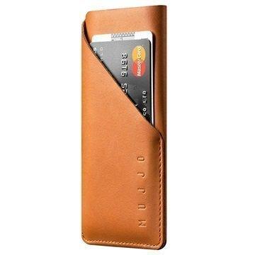 iPhone 7 Mujjo Wallet Nahkainen Kotelo Keltaruskea