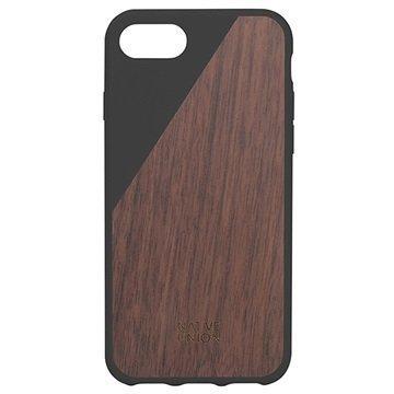 iPhone 7 Native Union Clic Wooden Suojakuori Musta / Pähkinäpuu