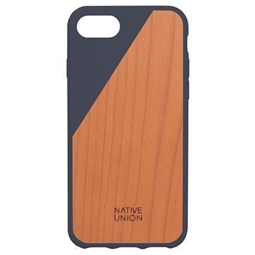 iPhone 7 Native Union Clic Wooden Suojakuori Tummansininen / Kirsikkapuu
