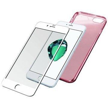 iPhone 7 PanzerGlass Premium Suojaussetti Valkoinen / Ruusukulta