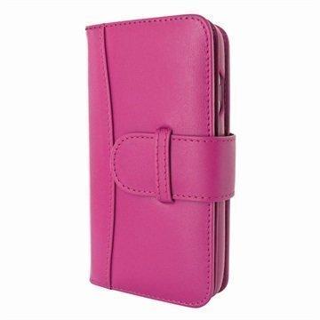 iPhone 7 Piel Frama WalletMagnum Leather Cover Fuchsia