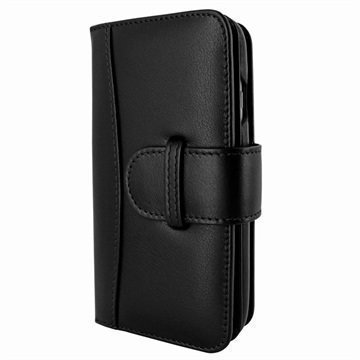 iPhone 7 Piel Frama WalletMagnum Leather Cover Musta