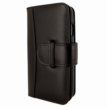 iPhone 7 Piel Frama WalletMagnum Leather Cover Ruskea