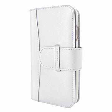 iPhone 7 Piel Frama WalletMagnum Leather Cover Valkoinen