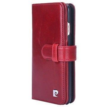 iPhone 7 Pierre Cardin Nahkainen Lompakkokotelo Viininpunainen