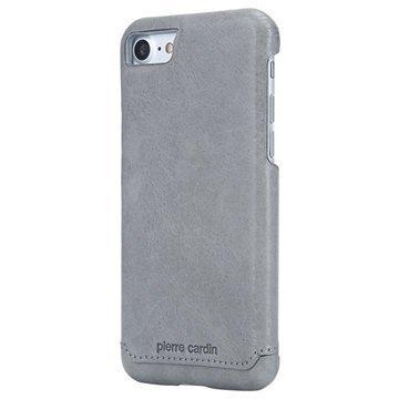 iPhone 7 Pierre Cardin Nahkapinnoitettu Kotelo Harmaa