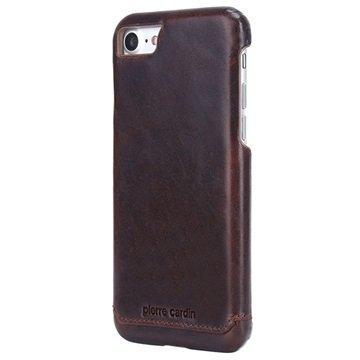 iPhone 7 Pierre Cardin Nahkapinnoitettu Kotelo Kahvi