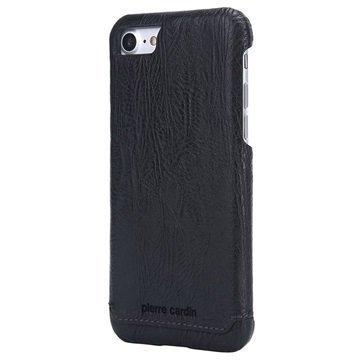 iPhone 7 Pierre Cardin Nahkapinnoitettu Kotelo Musta