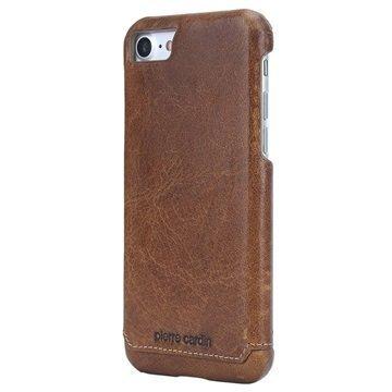 iPhone 7 Pierre Cardin Nahkapinnoitettu Kotelo Ruskea