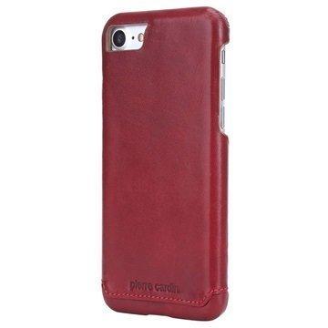 iPhone 7 Pierre Cardin Nahkapinnoitettu Kotelo Viininpunainen