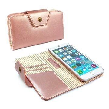 iPhone 7 Plus Alston Craig Neitojen Lompakkokotelo Ruusukulta