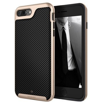 iPhone 7 Plus Caseology Envoy Kotelo Hiilikuitu Musta