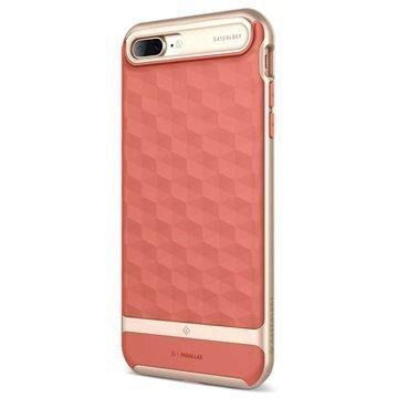 iPhone 7 Plus Caseology Parallax Hybrid Suojakuori Korallinpunainen / Kulta