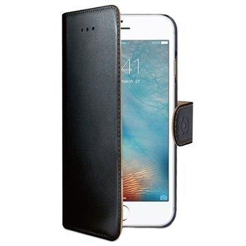 iPhone 7 Plus Celly Wally Lompakkokotelo Musta
