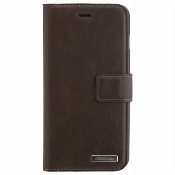 iPhone 7 Plus Commander Book & Cover Kotelo Ruskea Vintage
