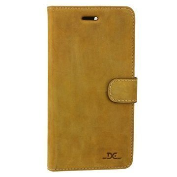 iPhone 7 Plus DC Luka Wallet Leather Case Tobacco