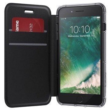 iPhone 7 Plus Griffin Survivor lompakkokotelo Musta / Kirkas