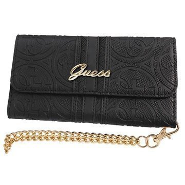 iPhone 7 Plus Guess Heritage Clutch Kotelo Musta