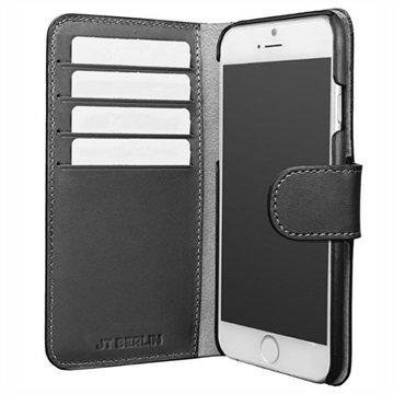 "iPhone 7 Plus JT Berlin 3-in-1 nahkainen lompakkokotelo â"" Musta"