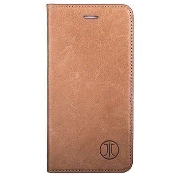 iPhone 7 Plus JT Berlin LeatherBook Magic Lompakkokotelo Konjakki